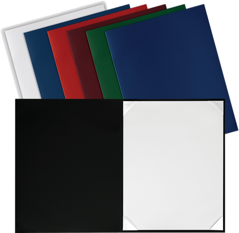 8 1/2 x 11 Leatherette Certificate Holders Black