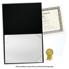 6 x 8 Leatherette Certificate Holders Black