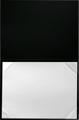 6 x 8 Leatherette Certificate Holders Black