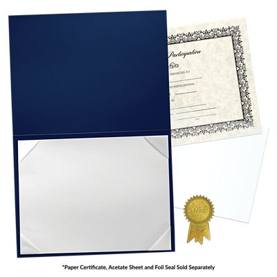 6 x 8 Leatherette Certificate Holders Navy