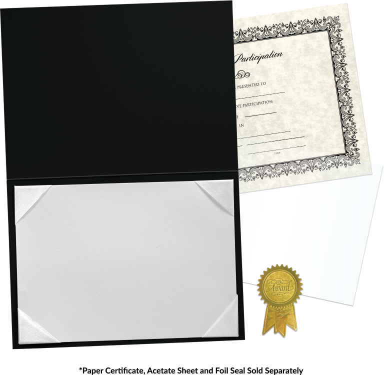5 x 7 Leatherette Certificate Holders Black