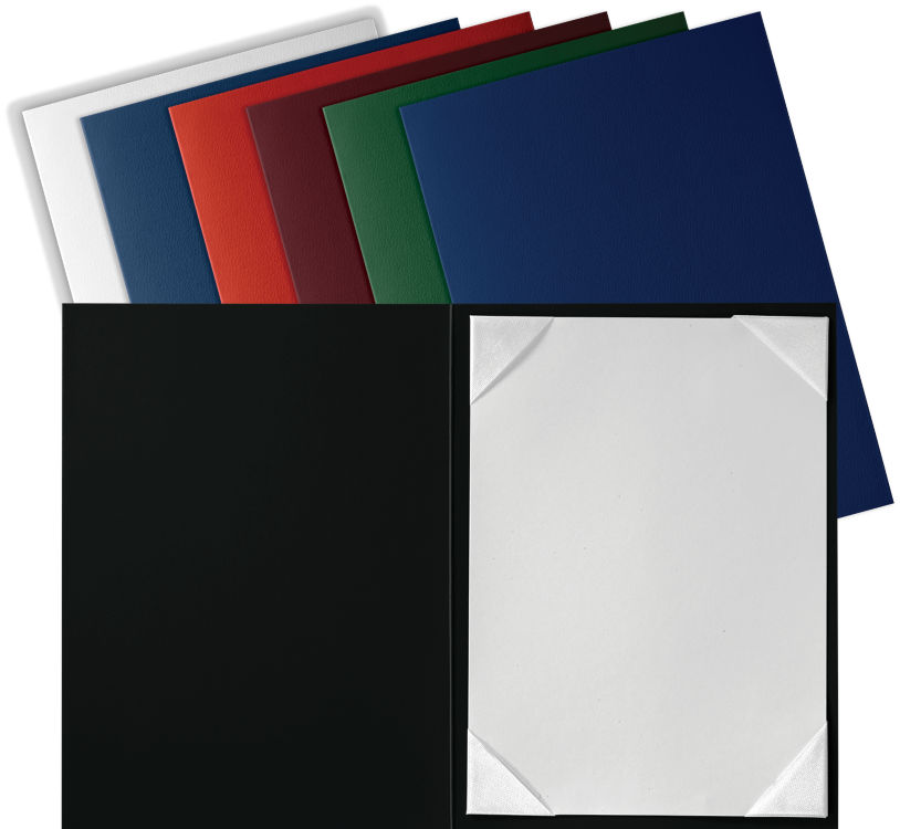 5 x 7 Leatherette Certificate Holders Navy