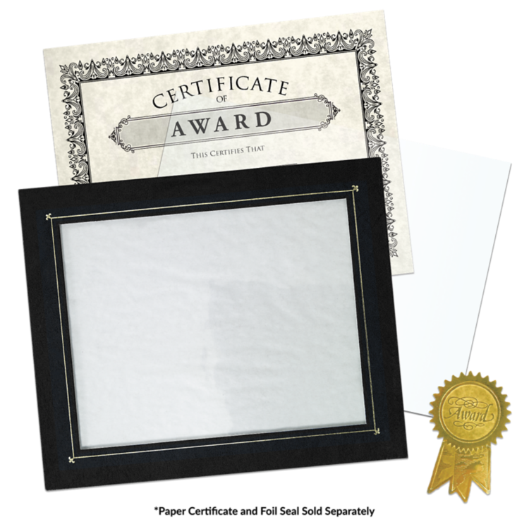 10 x 11 3/4 Certificate Frame w/ Easel Black Texture