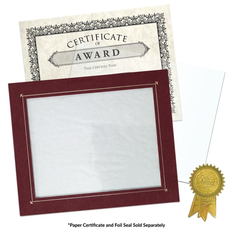 10 x 11 3/4 Certificate Frame w/ Easel Maroon Texture