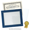 10 x 11 3/4 Certificate Frame w/ Easel Blue Print