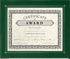 10 x 11 3/4 Certificate Frame w/ Easel Green