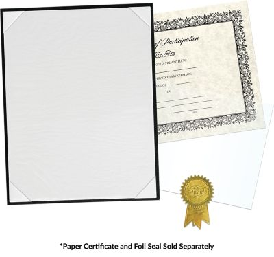 8 1/2 x 11 Certificate Board Black Textured