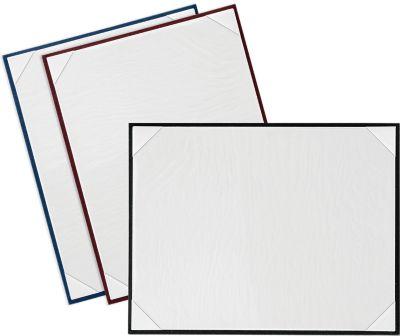 8 1/2 x 11 Certificate Board Navy Textured