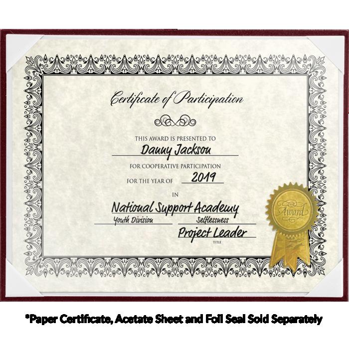 8 1/2 x 11 Certificate Board Maroon Texture