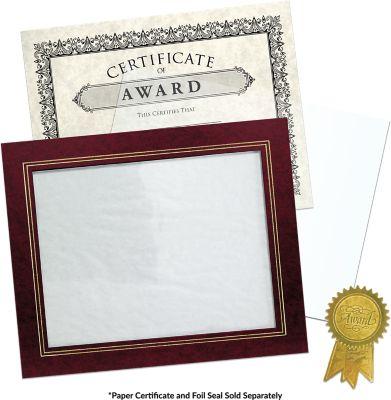 10 3/4 x 13 Certificate Frame w/ Easel Maroon Print