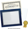 10 3/4 x 13 Certificate Frame w/ Easel Blue Print