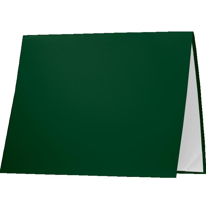 8 1/2 x 11 Leatherette Certificate Holders Dark Green