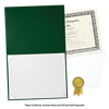 8 1/2 x 11 Leatherette Certificate Holders Dark Green