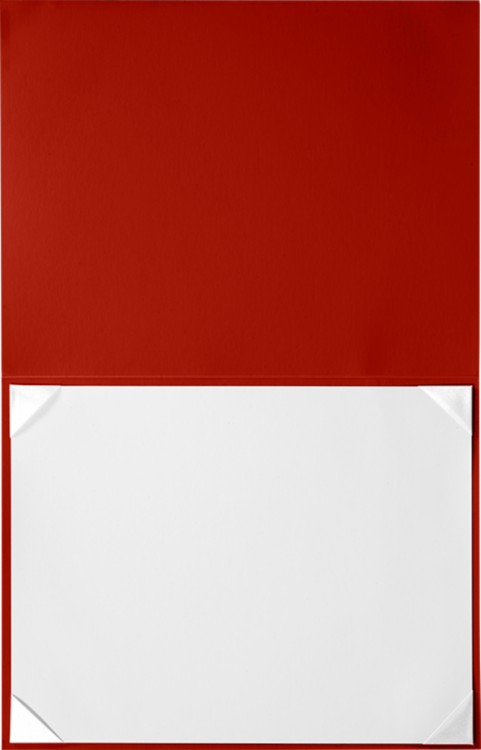 8 1/2 x 11 Leatherette Certificate Holders Red