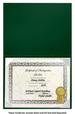 6 x 8 Leatherette Certificate Holders Dark Green