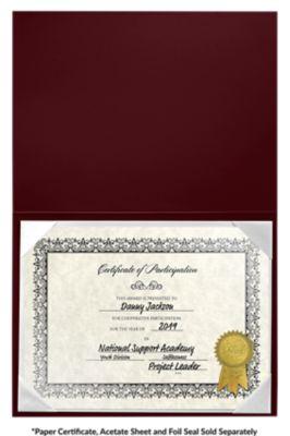 6 x 8 Leatherette Certificate Holders Maroon