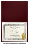 6 x 8 Leatherette Certificate Holders Maroon