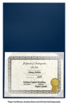 6 x 8 Leatherette Certificate Holders Royal Blue