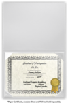 6 x 8 Leatherette Certificate Holders White