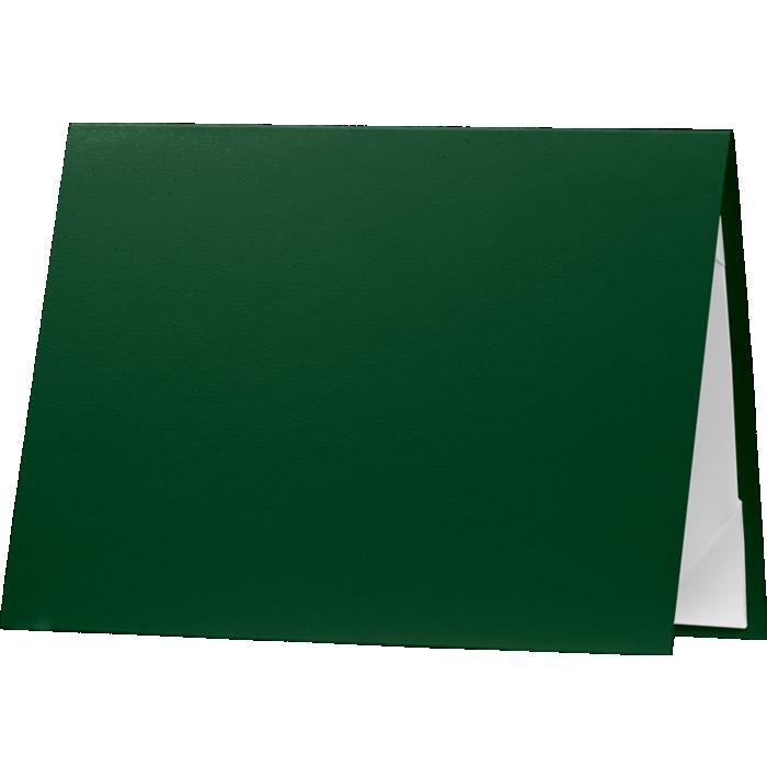 5 x 7 Leatherette Certificate Holders Dark Green