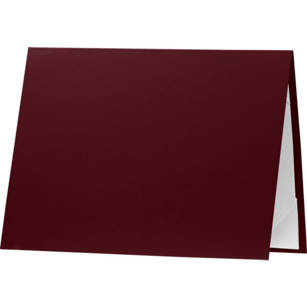 5 x 7 Leatherette Certificate Holders Maroon