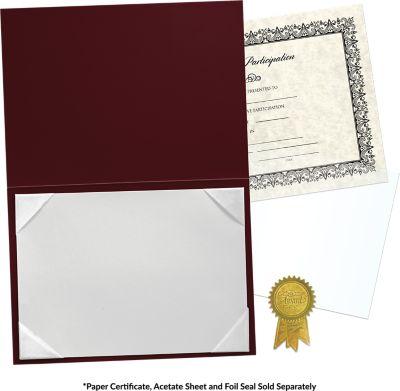 5 x 7 Leatherette Certificate Holders Maroon