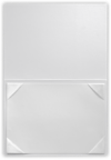 5 x 7 Leatherette Certificate Holders White