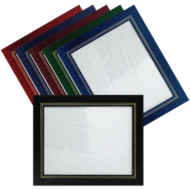 10 3/4 x 13 Certificate Frame w/ Easel Red Print