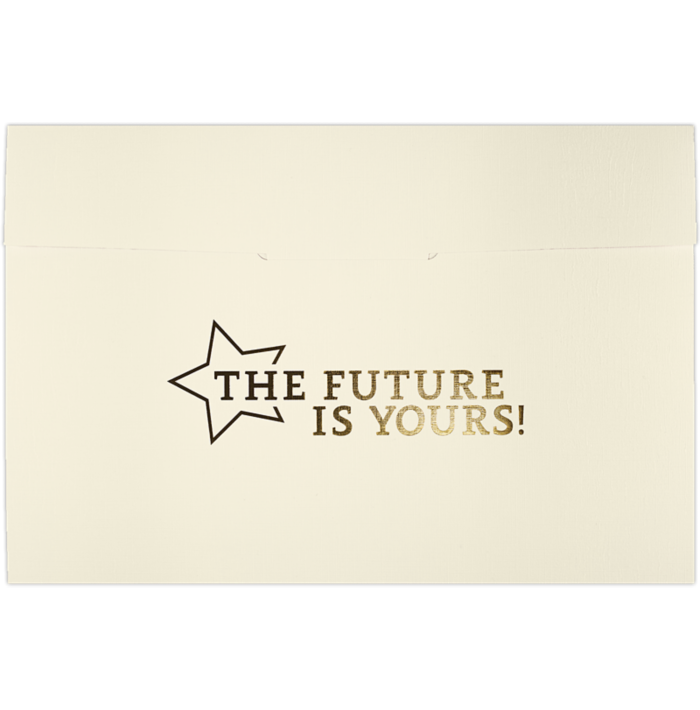 6 1/2 x 9 1/2 Future Is Yours Certificate Holders Natural Linen
