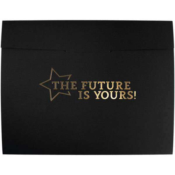 9 1/2 x 12 Future Is Yours Certificate Holders Black Linen