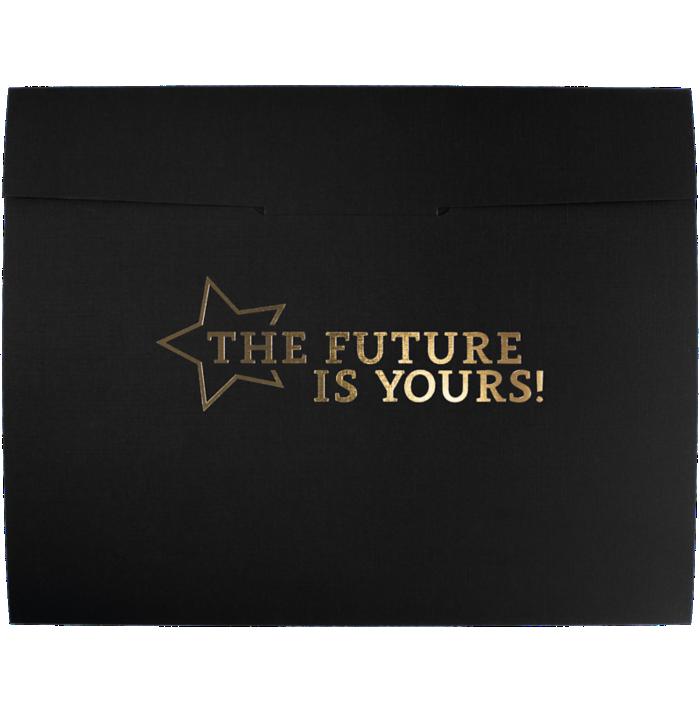 9 1/2 x 12 Future Is Yours Certificate Holders Black Linen