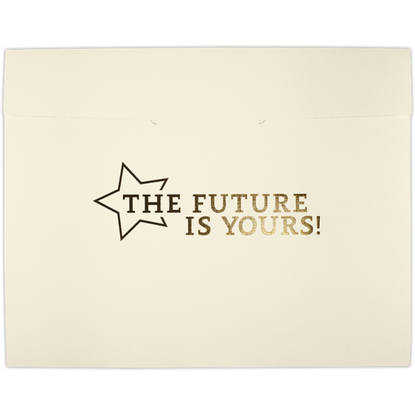 9 1/2 x 12 Future Is Yours Certificate Holders Natural Linen