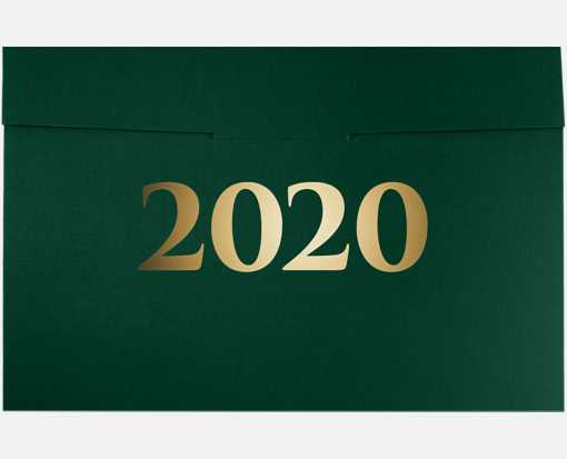 6 1/2 x 9 1/2 2020 Certificate Holders Green Linen