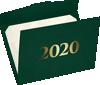 6 1/2 x 9 1/2 2020 Certificate Holders Green Linen