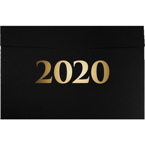 6 1/2 x 9 1/2 2020 Certificate Holders Black Linen