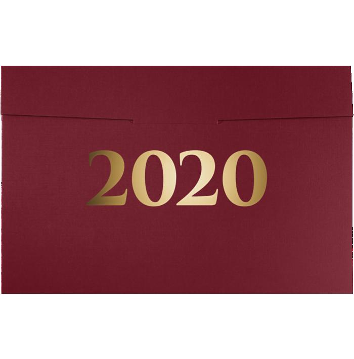 6 1/2 x 9 1/2 2020 Certificate Holders Burgundy Linen