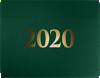 9 1/2 x 12 2020 Certificate Holders Green Linen