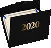 9 1/2 x 12 2020 Certificate Holders Black Linen