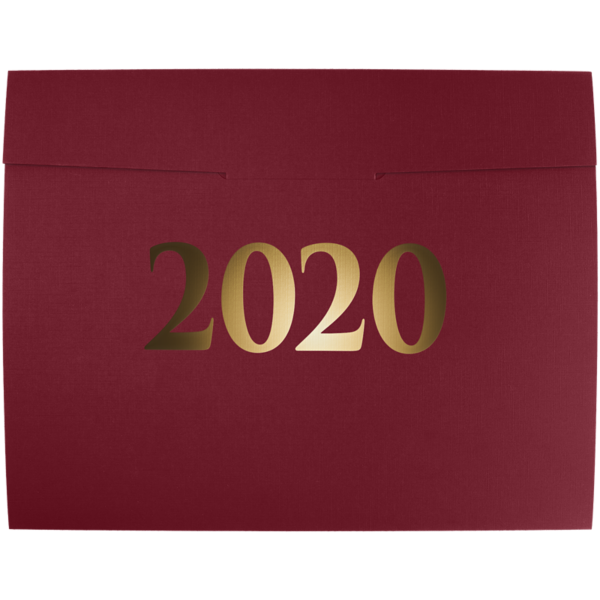 9 1/2 x 12 2020 Certificate Holders Burgundy Linen