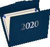 9 1/2 x 12 2020 Certificate Holders Nautical Blue Linen