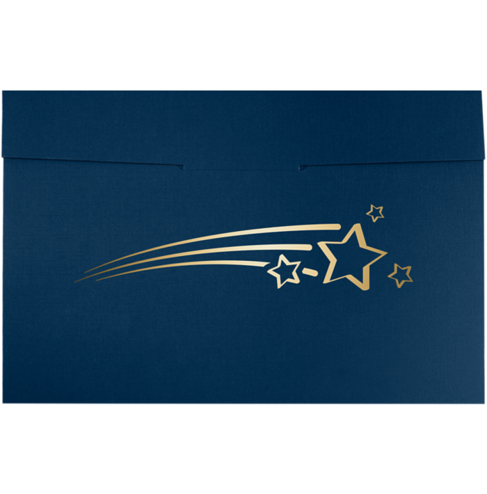 6 1/2 x 9 1/2 Shooting Stars Certificate Holders Nautical Blue Linen