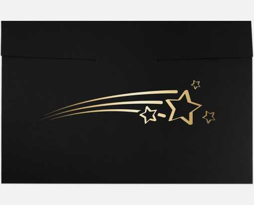 6 1/2 x 9 1/2 Shooting Stars Certificate Holders Black Linen