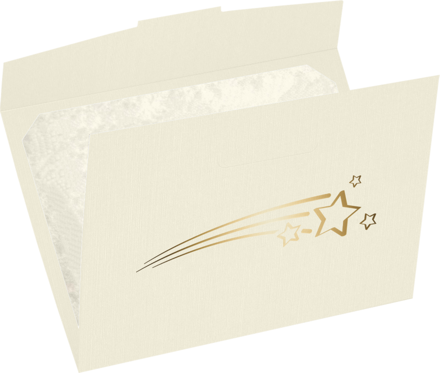 6 1/2 x 9 1/2 Shooting Stars Certificate Holders Natural Linen