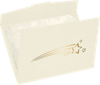 6 1/2 x 9 1/2 Shooting Stars Certificate Holders Natural Linen