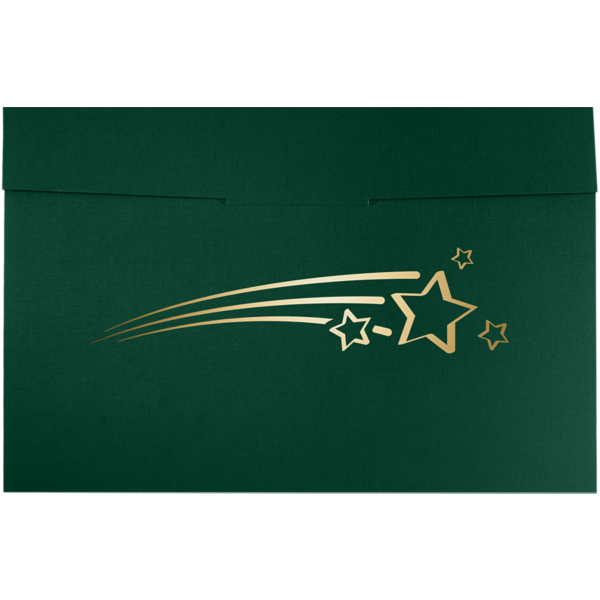 6 1/2 x 9 1/2 Shooting Stars Certificate Holders Green Linen