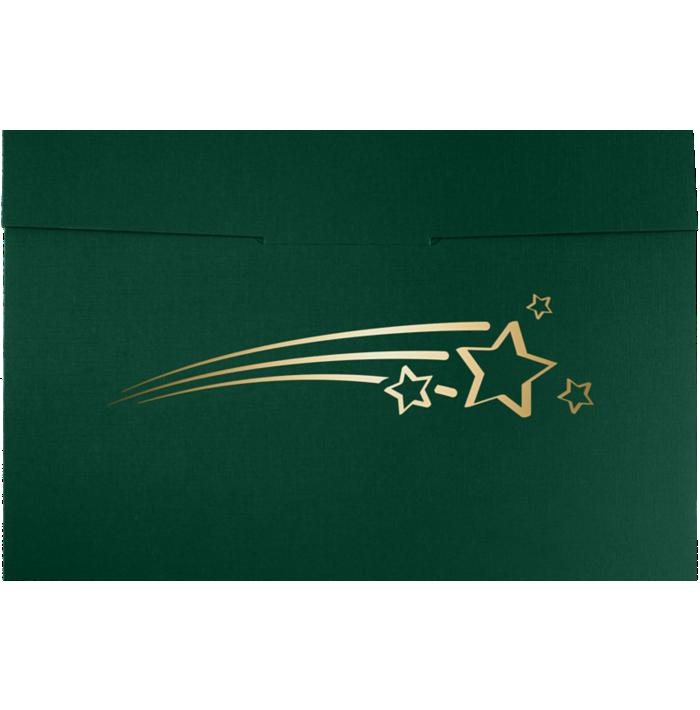 6 1/2 x 9 1/2 Shooting Stars Certificate Holders Green Linen