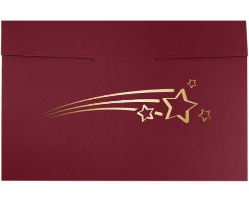 6 1/2 x 9 1/2 Shooting Stars Certificate Holders Burgundy  Linen