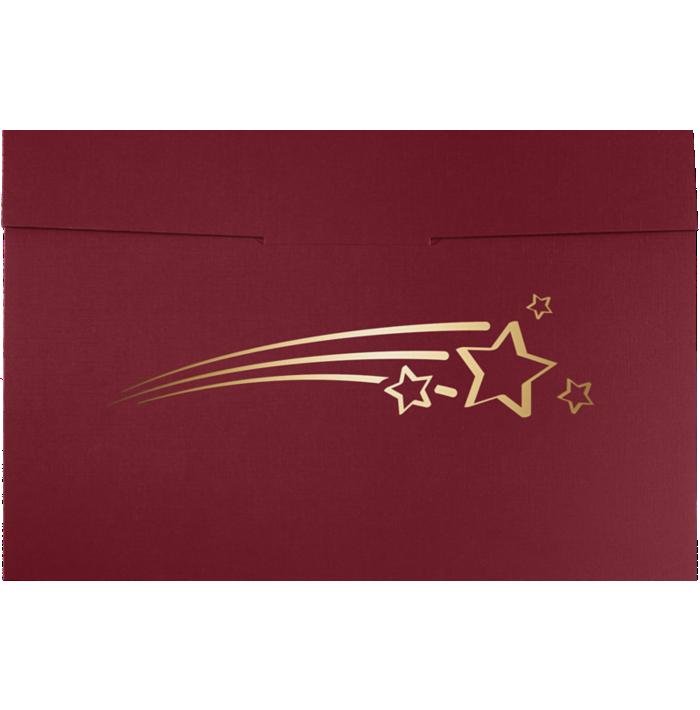 6 1/2 x 9 1/2 Shooting Stars Certificate Holders Burgundy  Linen