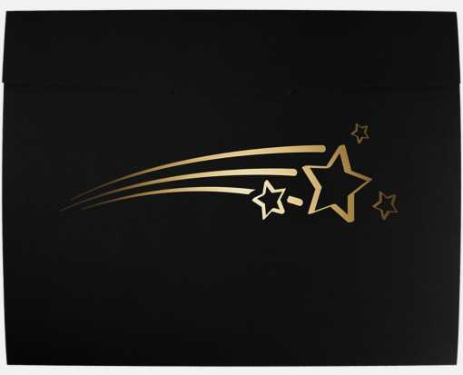 9 1/2 x 12 Shooting Stars Certificate Holders Black Linen