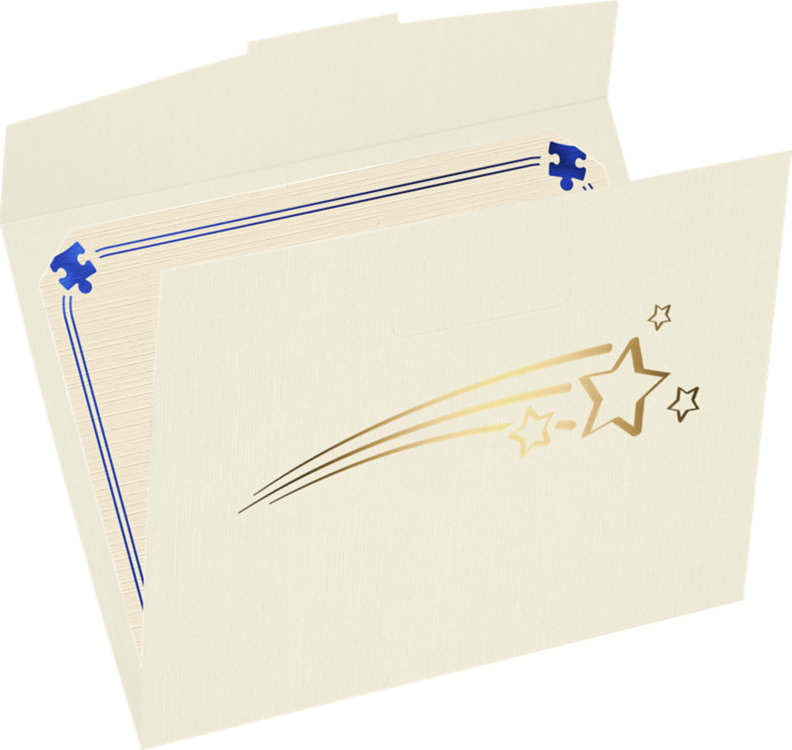 9 1/2 x 12 Shooting Stars Certificate Holders Natural Linen